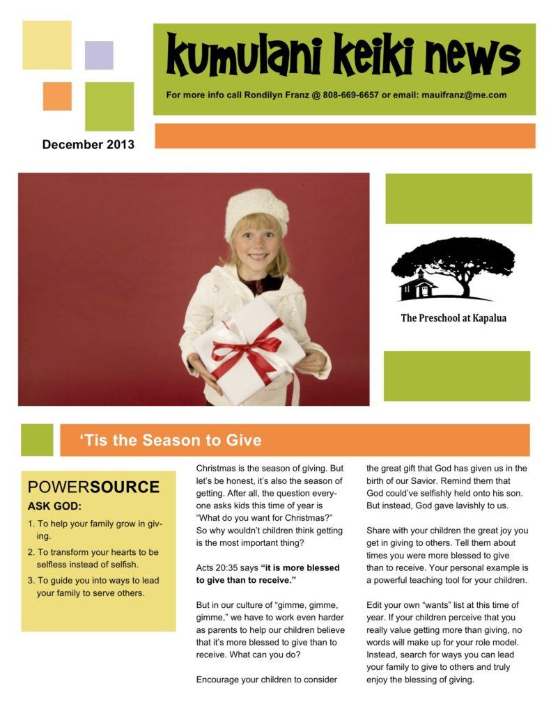 Dec13 newsletter
